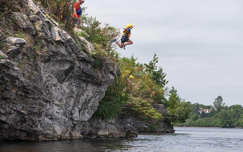 Cliff Jumping downtown Ottawa with Ottawa City Rafting