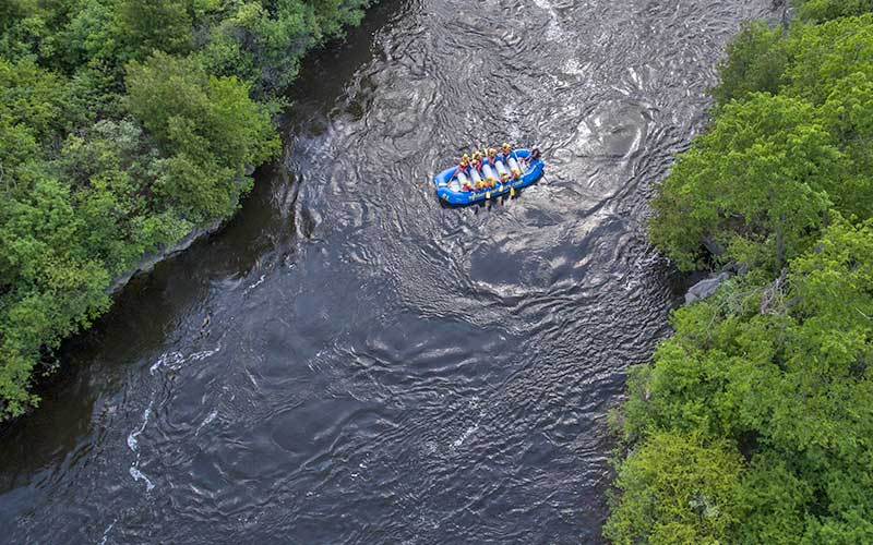 magical channels rafting on the Ottawa River with children